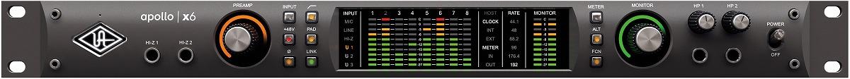 Universal Audio ユニバーサルオーディオ / Apollo X6 Thunderbolt3 オーディオインターフェース【お取り寄せ商品】【PNG】
