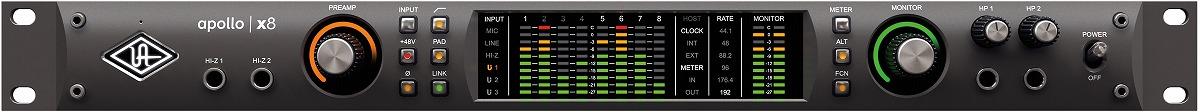 Universal Audio ユニバーサルオーディオ / Apollo X8 Thunderbolt3 オーディオインターフェース【お取り寄せ商品】【PNG】
