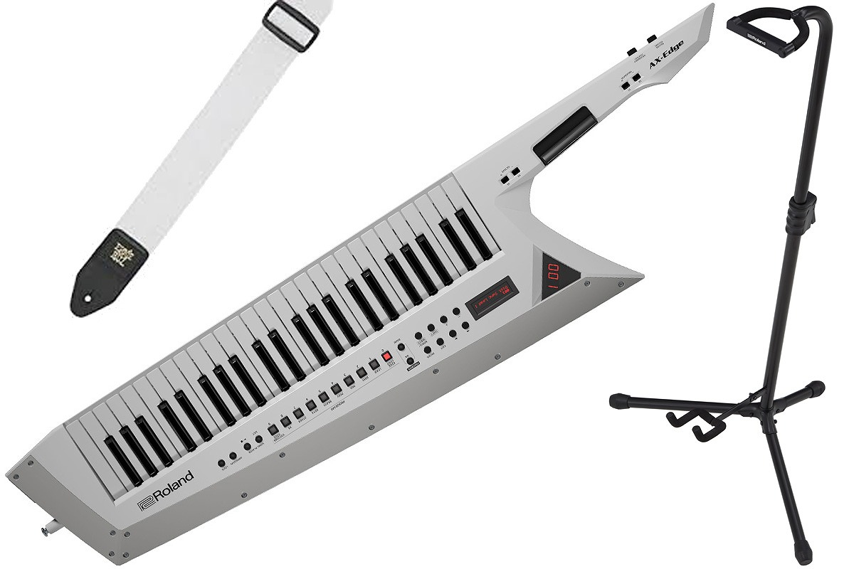 Roland ローランド / AX-EDGE-W【スタンドセット!】(ホワイト) 49鍵盤キーター【PNG】