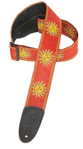 Levy's レビース / Jacquard Weave Strap MPJG-SUN-Red / Sun Design【お取り寄せ商品】