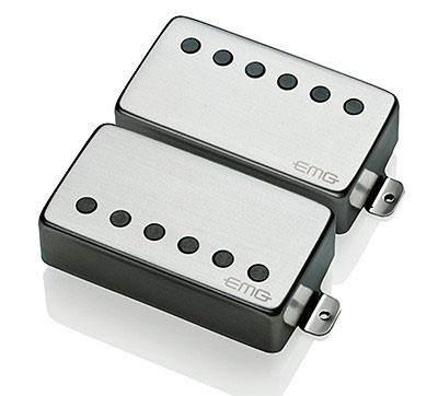 EMG / Electric Guitar Pickup EMG 57/66 SET Brushed Chrome【WEBSHOP】 《お取り寄せ商品/納期別途ご案内》