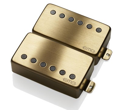 EMG イーエムジー / Electric Guitar Pickup EMG 57/66 SET Brushed Gold【お取り寄せ商品】