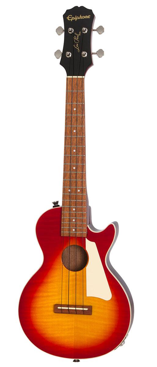 【タイムセール:31日12時まで】【在庫有り】 Epiphone / Les Paul Acoustic/Electric Ukulele Outfit Tenor Heritage Cherry Sunburst エピフォン テナー ウクレレ 入門 初心者