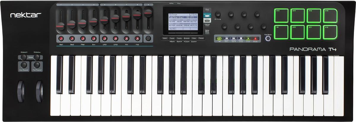 Nektar Technology ネクター / Panorama T4 49鍵MIDIコントローラーキーボード【お取り寄せ商品】