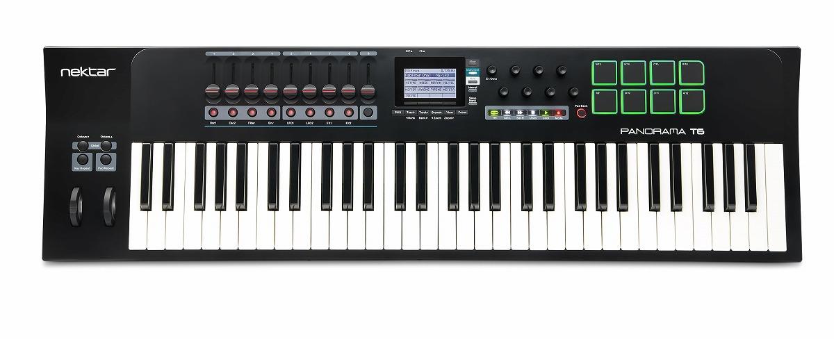 Nektar Technology ネクター / Panorama T6 61鍵MIDIコントローラーキーボード【お取り寄せ商品】