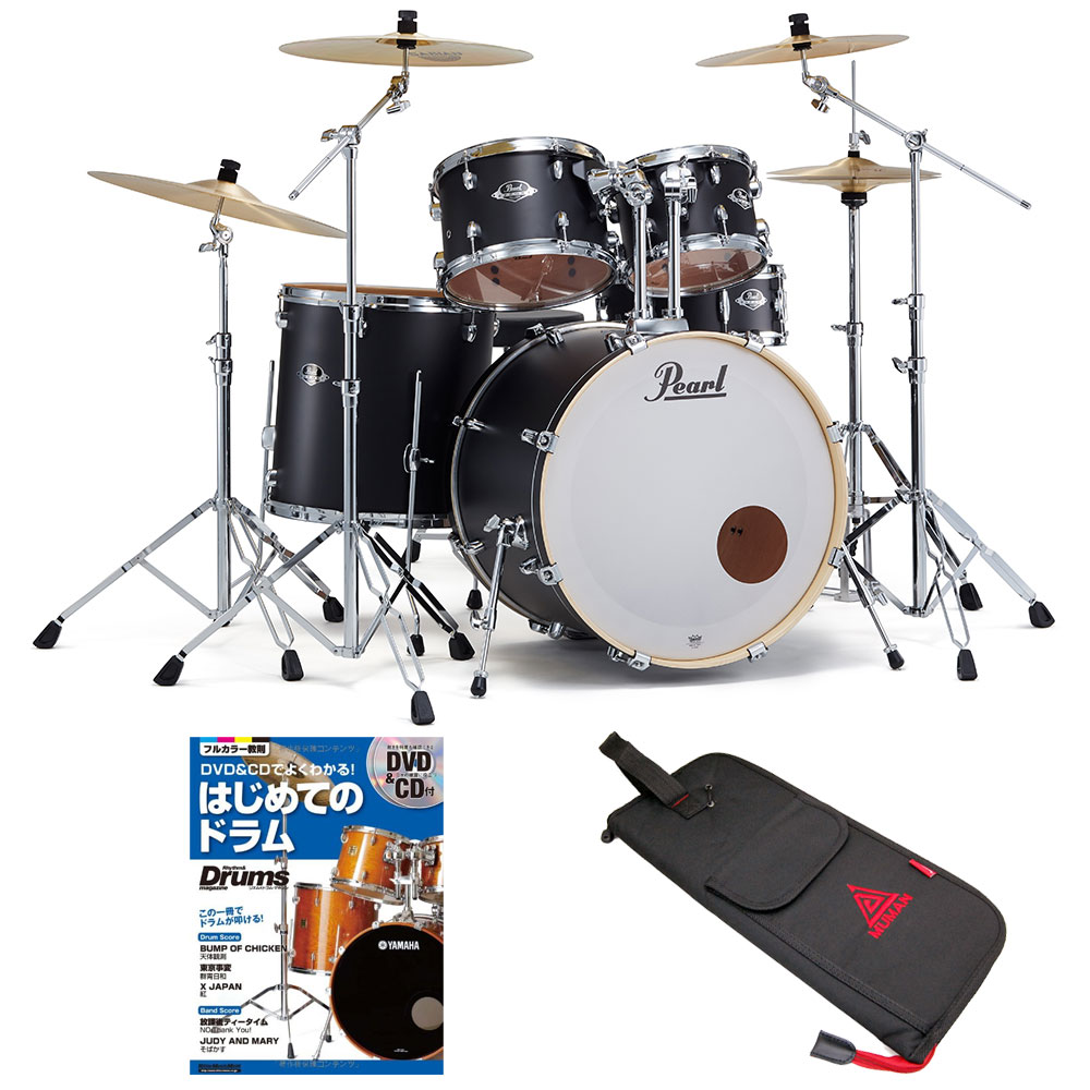 Pearl ドラムセット EXX725S/C-2CS #761 パール エクスポートEXX 3シンバル スタンダードサイズ ドラム教本セット