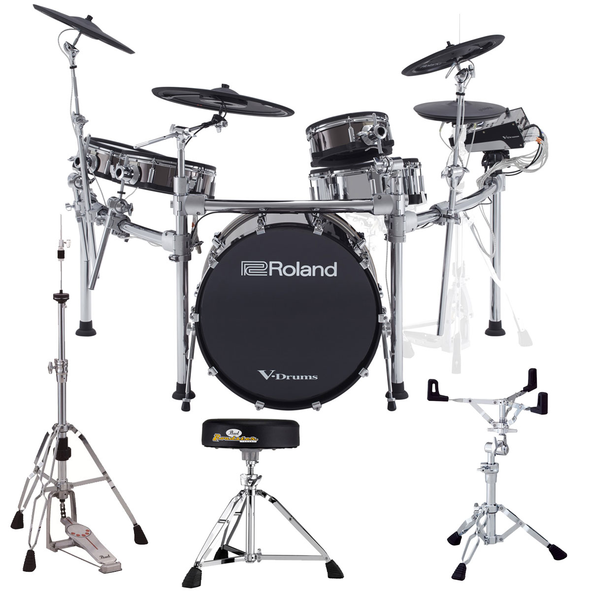 【Rolandキャッシュバック10000円対象】【タイムセール:29日12時まで】Roland Drum System TD-50KVX PEARL HARDWARE SET 【YRK】