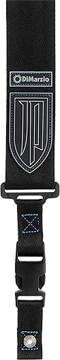 Dimarzio / DD2200JP Black Nylon Blue Stitching 【John Petrucci Signature Strap】