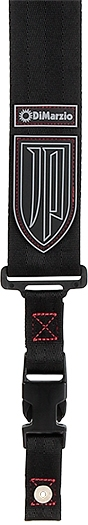 Dimarzio / DD2200JPS Black Nylon Red Stitching 【John Petrucci Signature Strap】