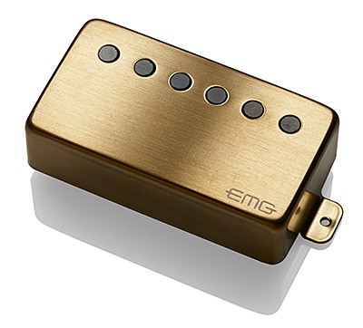 EMG イーエムジー / Electric Guitar Pickup EMG 66 Brushed Gold フロント用【お取り寄せ商品】【WEBSHOP】
