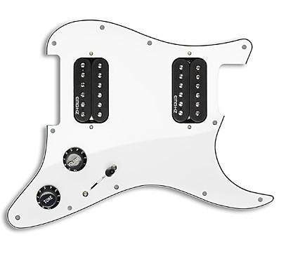 EMG イーエムジー / Dual Humbucker Prewired Pickguard EMG ST-12 White【国内正規品/お取り寄せ商品】【WEBSHOP】