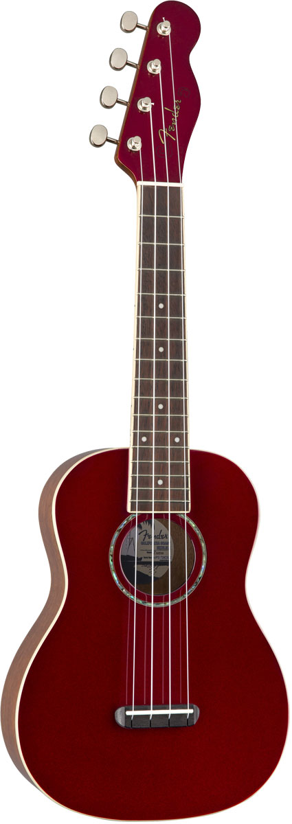 FENDER Acoustic / Zuma Classic Concert Uke Candy Apple Red フェンダー コンサート ウクレレ 【お取り寄せ商品】【YRK】
