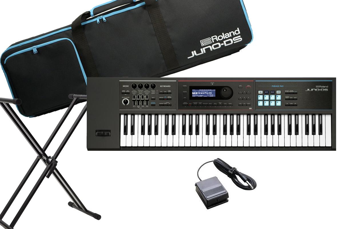 Roland ローランド / JUNO-DS61 【スタンド&ペダルセット】シンセサイザー (JUNO-DS)【YRK】《BLACKシリーズケーブルプレゼント:811171200×2》