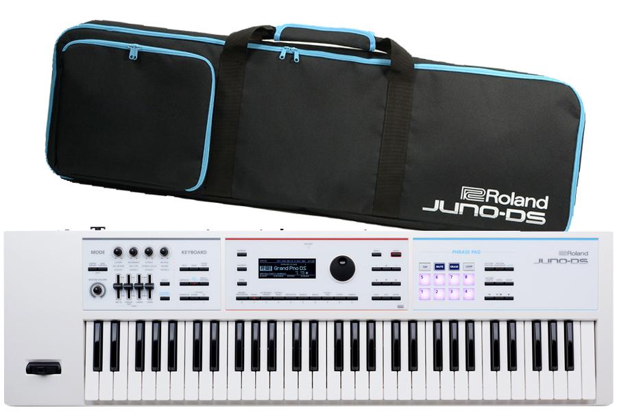 Roland ローランド / JUNO-DS61W シンセサイザー (JUNO-DSW) ホワイトモデルWH《背負えるケース付き:811133700》【YRK】