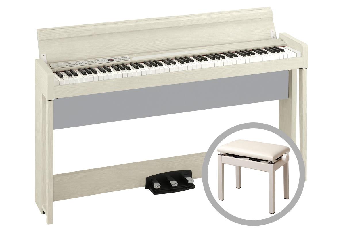 《予約注文/納期未定:別途ご案内》KORG コルグ / C1 Air WA (ホワイト・アッシュ) 【高低自在椅子セット!】【代引不可】【PNG】デジタル・ピアノ《お手入れセットプレゼント:681018000+671044200》