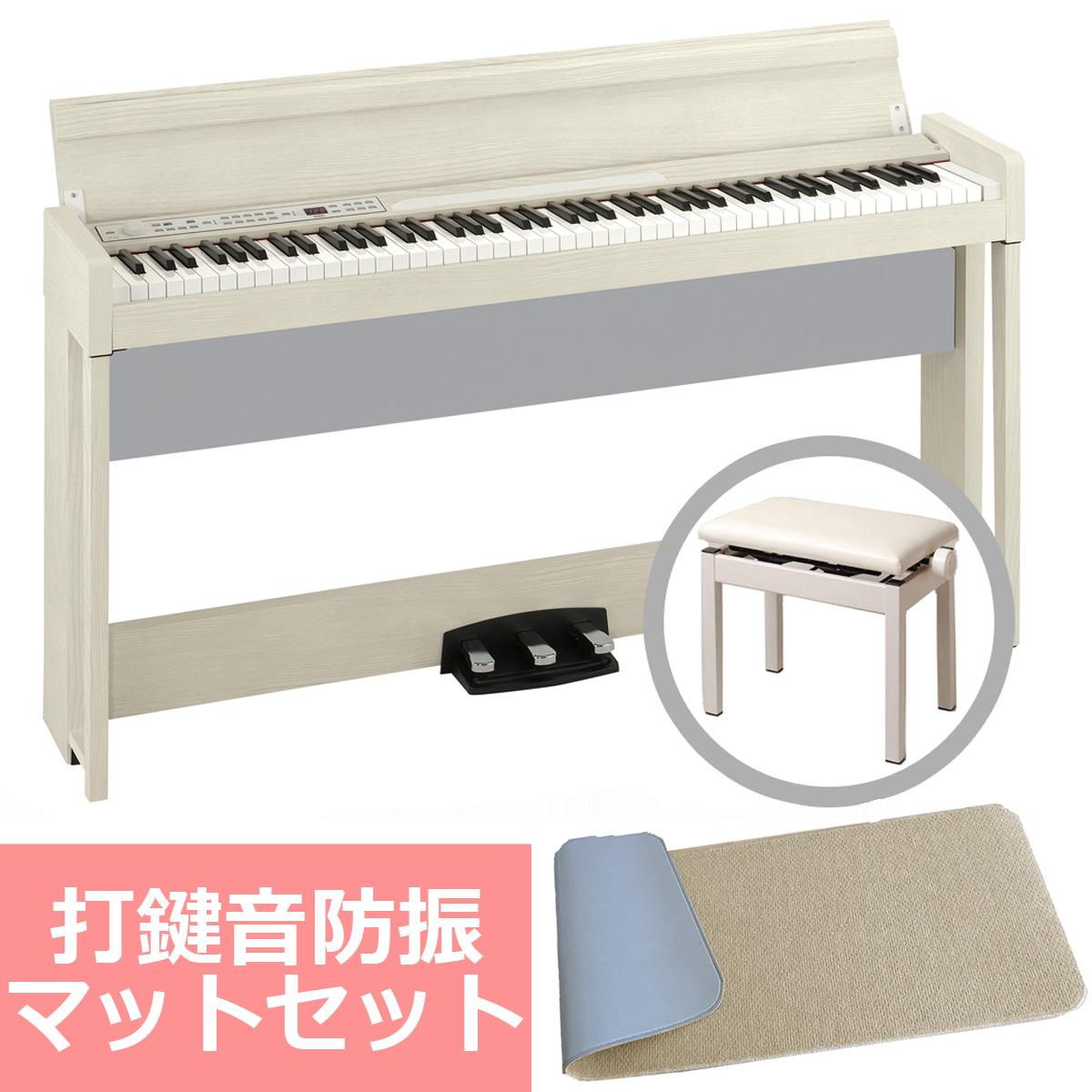 《予約注文/納期未定:別途ご案内》KORG コルグ / C1 Air WA (ホワイト・アッシュ) 【防振マットセット!】【代引不可】【PNG】デジタル・ピアノ《お手入れセットプレゼント:681018000+671044200》