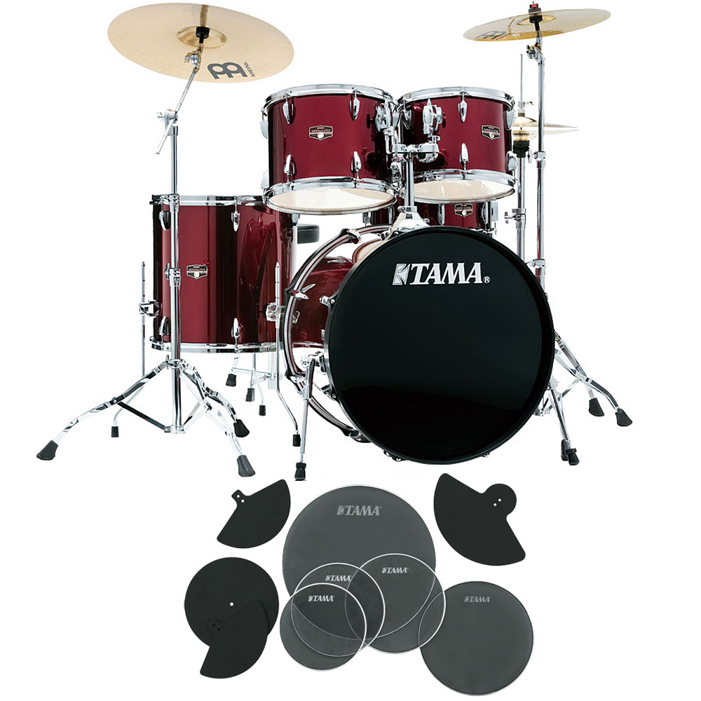 TAMA / IP52H6HC-VTR サイレントパック タマ インペリアルスター ドラムセット ビンテージレッド 22BD スタンダードサイズ
