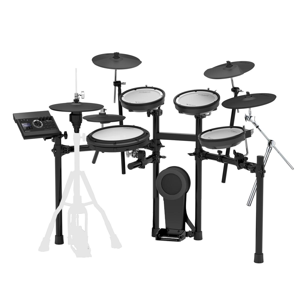 Roland 電子ドラム TD-17KV-S カスタム Expanded Set VH-10/CY-13R 4シンバル キット【YRK】