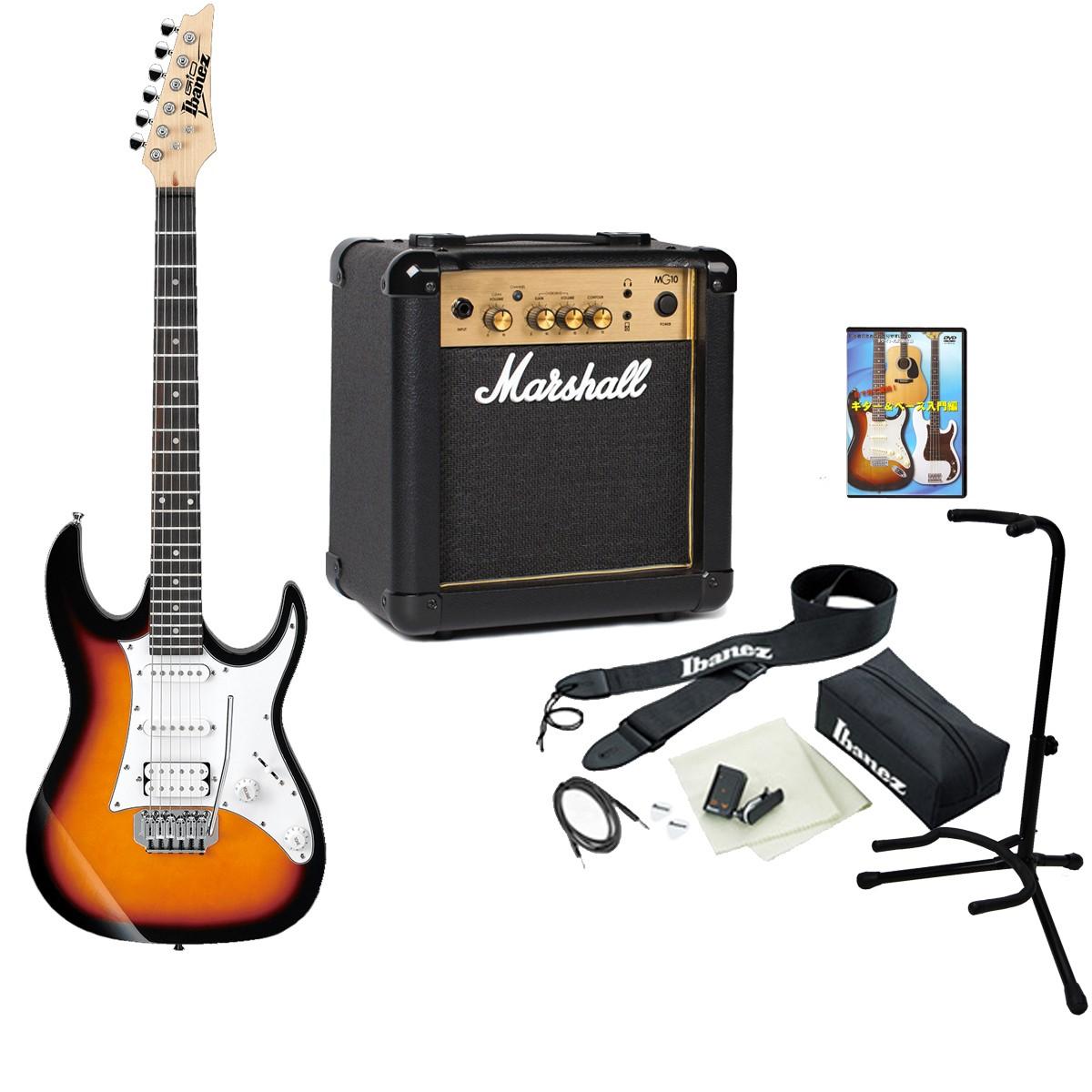 Ibanez アイバニーズ / GIO GRX40 TFB + MG10 【Ibanez × Marshall ロックギタースタートセット!】【10Wアンプ付きセット】