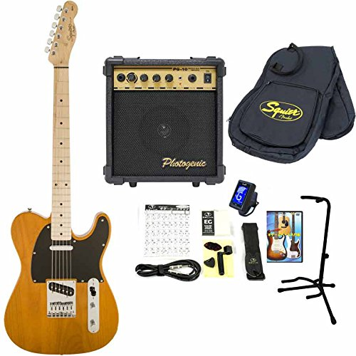 Squier / Affinity Telecaster Butterscotch Blonde Maple スクワイヤー エレキギター 【10Wアンプ&小物セット】 入門 初心者