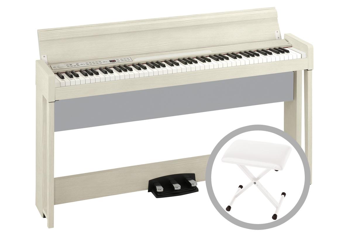 《予約注文/納期未定:別途ご案内》KORG コルグ / C1 Air WA (ホワイト・アッシュ)【椅子セット!】デジタル・ピアノ【PNG】《お手入れセットプレゼント:681018000+671044200》