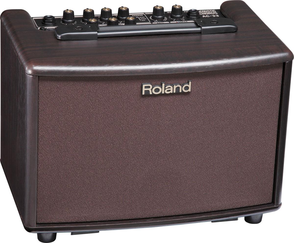 Roland / AC-33-RW Acoustic Chorus 【ローズウッド調仕上げ】【アコースティックギター用アンプ/電池駆動可能】【15W+15W ステレオ仕様】 ローランド アコギアンプ 【YRK】