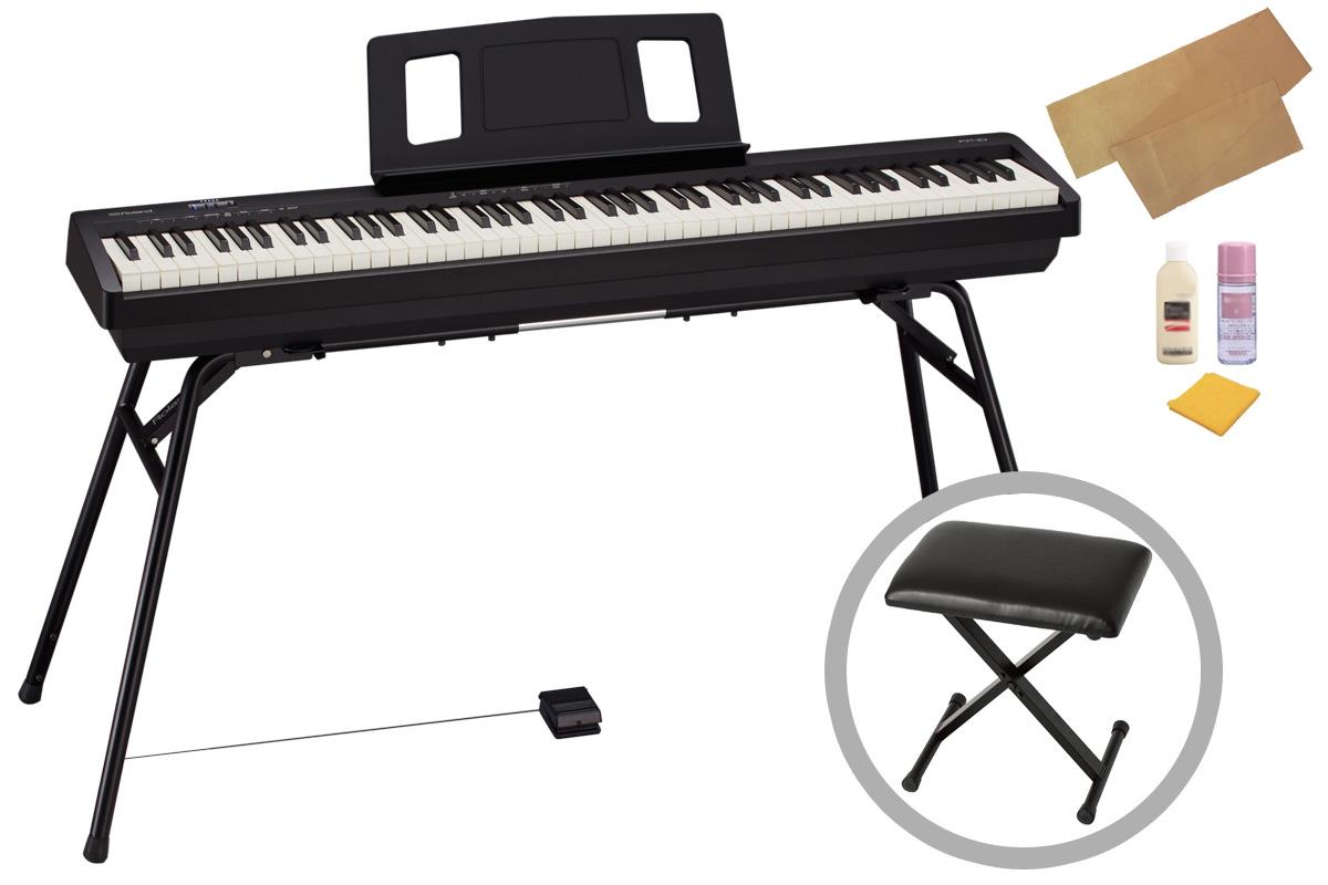 Roland ローランド / FP-10-BK【スタンド&椅子セット!】ポータブル・ピアノ【お手入れセットプレゼント:meinte-set】【YRK】【PTNB】