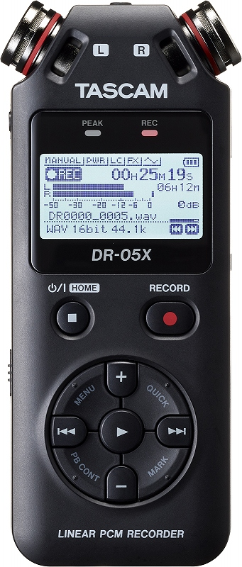 TASCAM タスカム / DR-05X ステレオオーディオレコーダー/USBオーディオインターフェース【お取り寄せ商品】