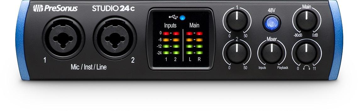 PreSonus プレソナス / Studio 24c USB Type-C オーディオ/MIDIインターフェース【お取り寄せ商品】《予約注文/2月下旬発売予定》