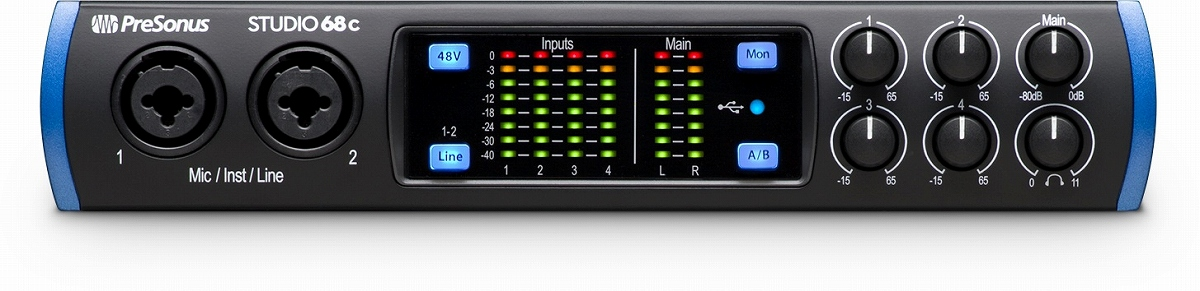 PreSonus プレソナス / Studio 68c USB Type-C オーディオ/MIDIインターフェース【お取り寄せ商品】