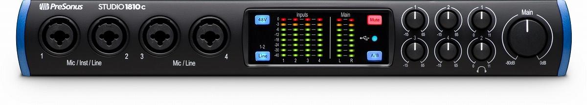 PreSonus プレソナス / Studio 1810c USB Type-C オーディオ/MIDIインターフェース【お取り寄せ商品】
