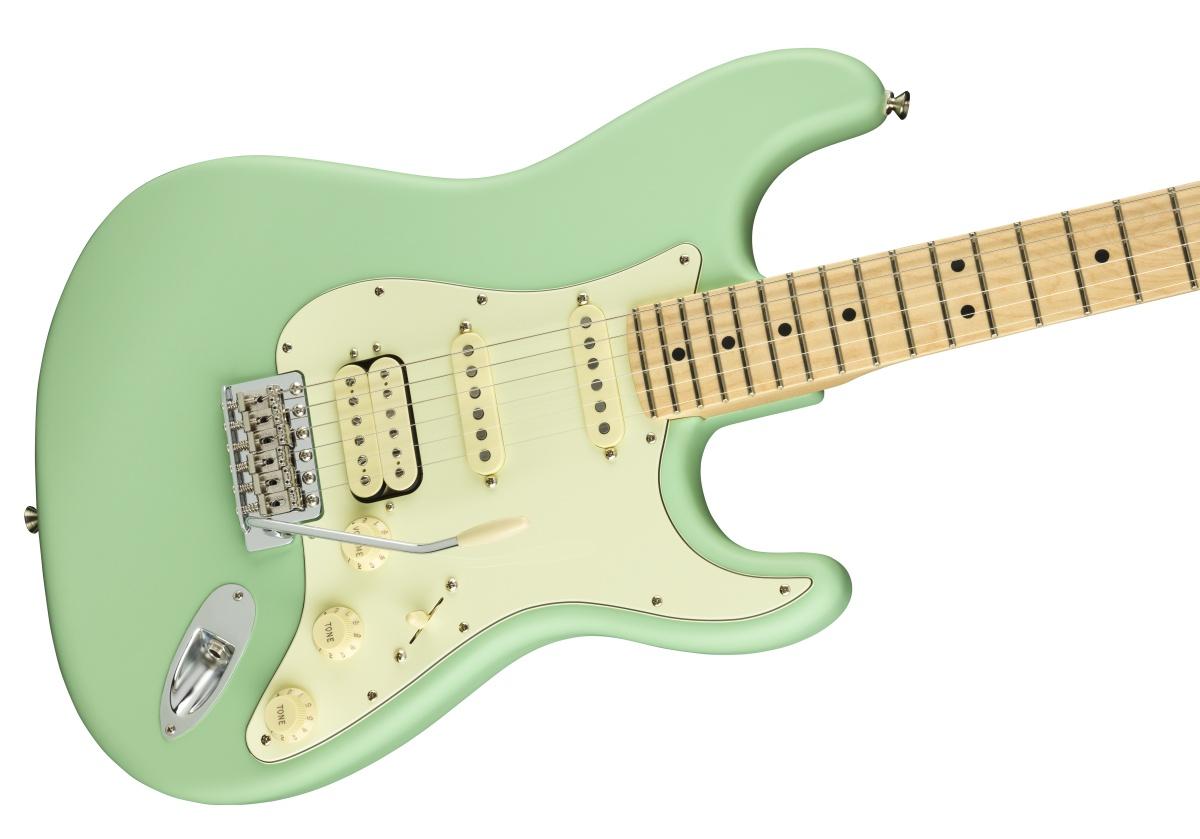 【増税前タイムセール:30日12時まで】Fender USA / American Performer Stratocaster HSS Maple Fingerboard Satin Surf Green《ランチボックスプレゼント! /+811176000》