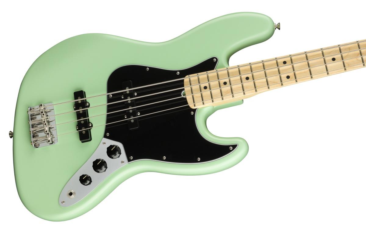 【増税前タイムセール:30日12時まで】Fender USA / American Performer Jazz Bass Maple Fingerboard Satin Surf Green フェンダー