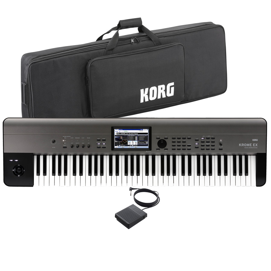 KORG コルグ / KROME 73EX【ケース&ペダルセット!】73鍵盤ワークステーション【YRK】