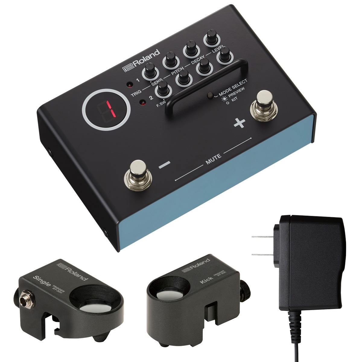 Roland / TM-1 ドラムトリガーモジュールとトリガー2個とACアダプターセット【YRK】