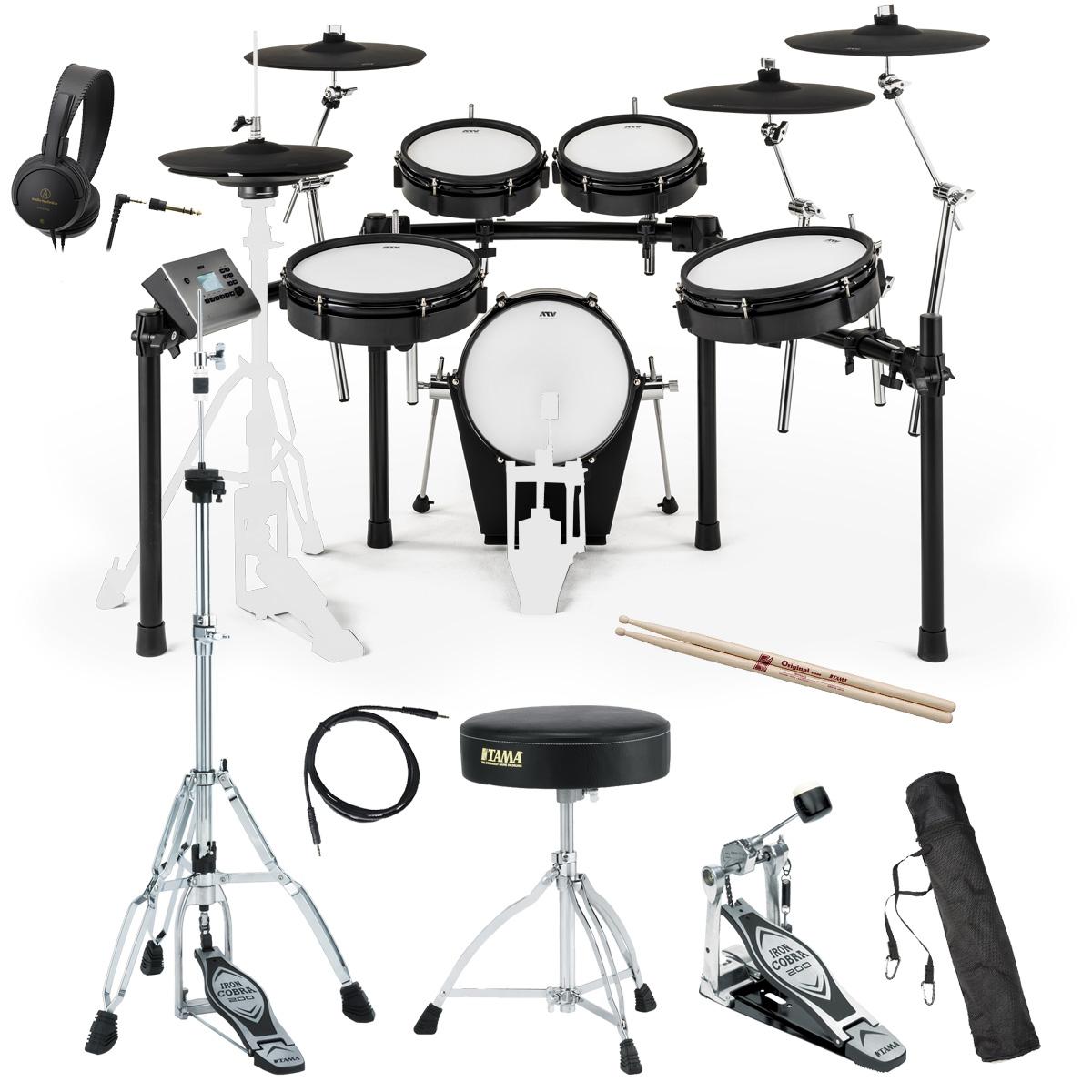 【タイムセール:26日12時まで】【在庫あります】ATV / EXS-5 電子ドラム TAMAスターターパック