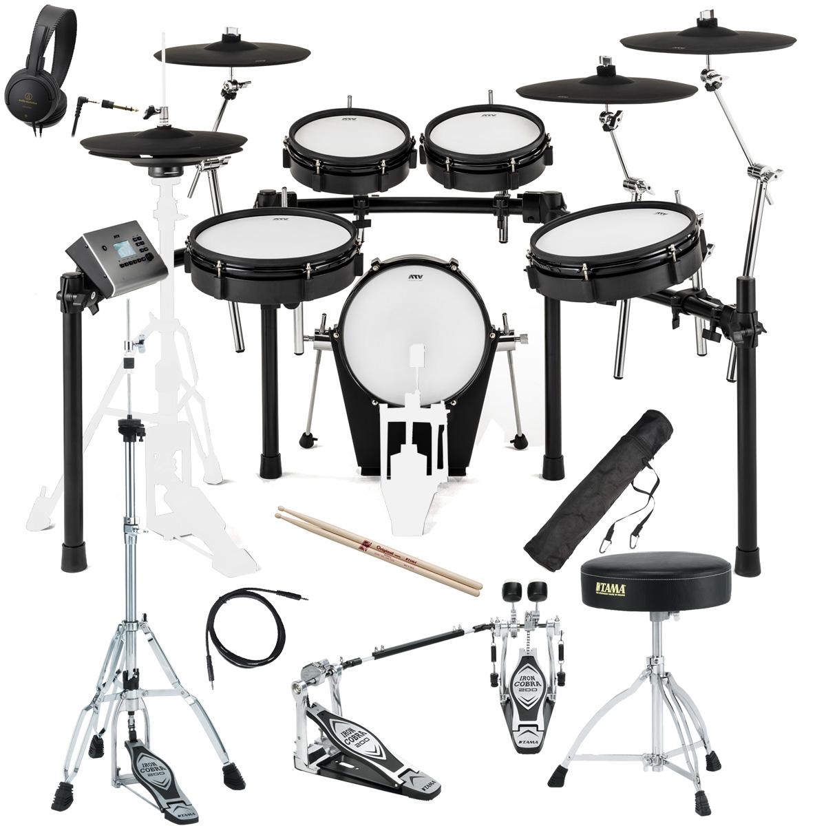 【在庫あります】ATV / EXS-5 電子ドラム TAMAツインペダル・スターターパック【BLKFRD】