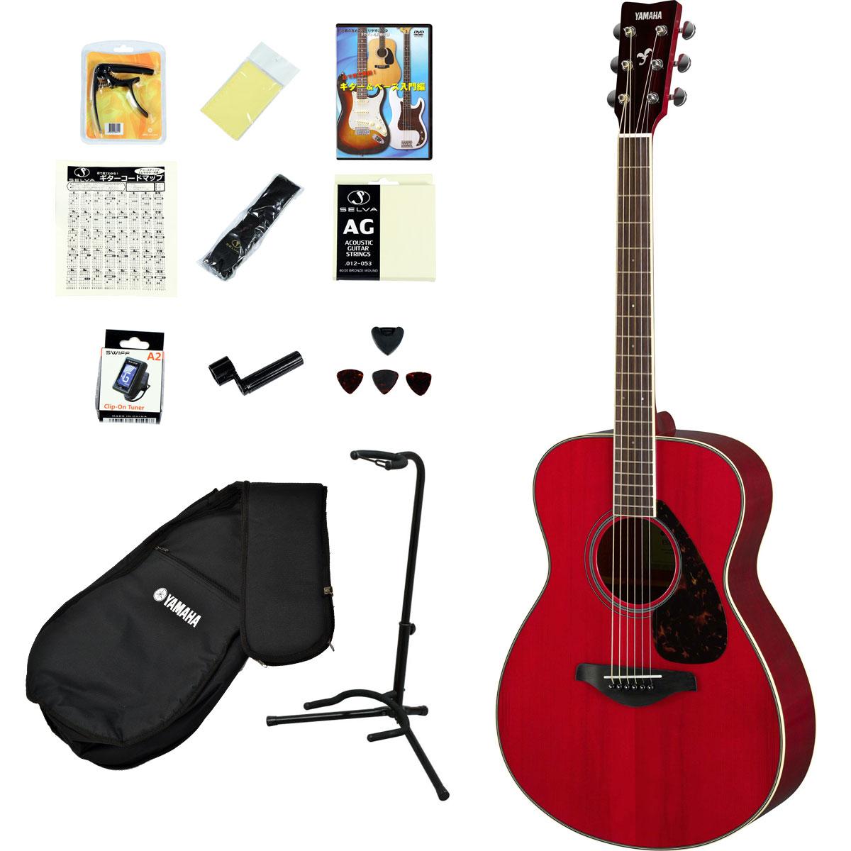 YAMAHA / FS820 RR(ルビーレッド) 【アコースティックギター14点入門セット!】 ヤマハ フォークギター アコギ FS-820 入門 初心者【YRK】