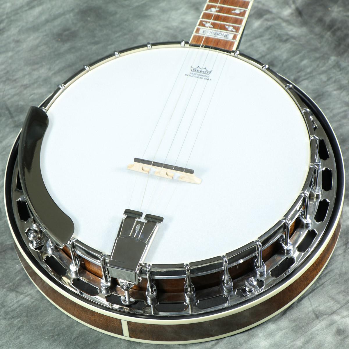 【タイムセール:26日12時まで】Epiphone / Mayfair 5-String Banjo Mahogany 【5弦バンジョー】 エピフォン ブルーグラス