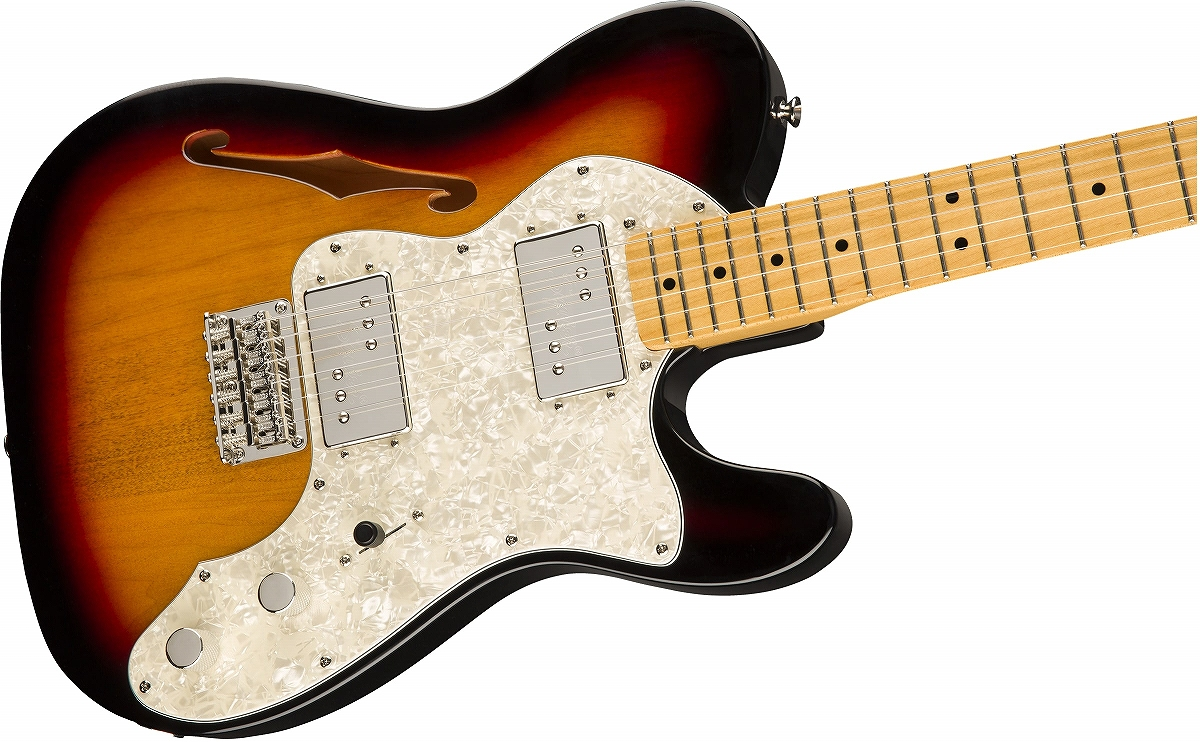 Squier / Classic Vibe 70s Telecaster Thinline Maple Fingerboard 3-Color Sunburst スクワイヤー