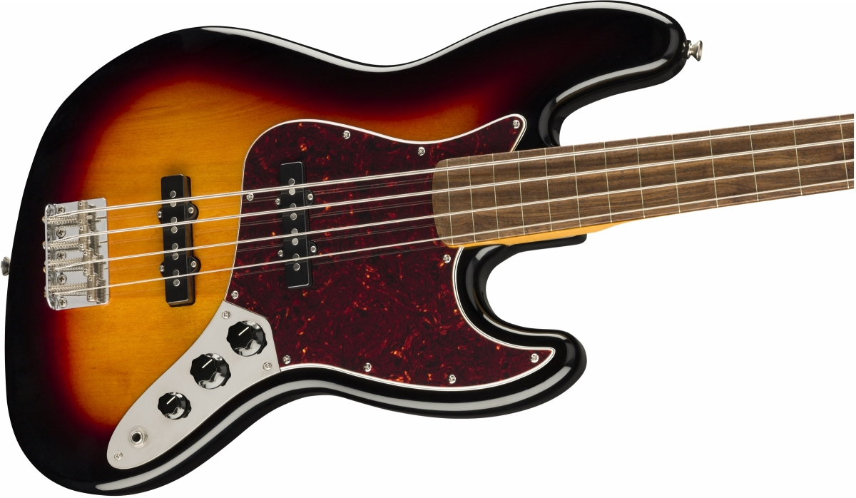 Squier / Classic Vibe 60s Jazz Bass Fretless Laurel Fingerboard 3-Color Sunburst スクワイヤー エレキベース