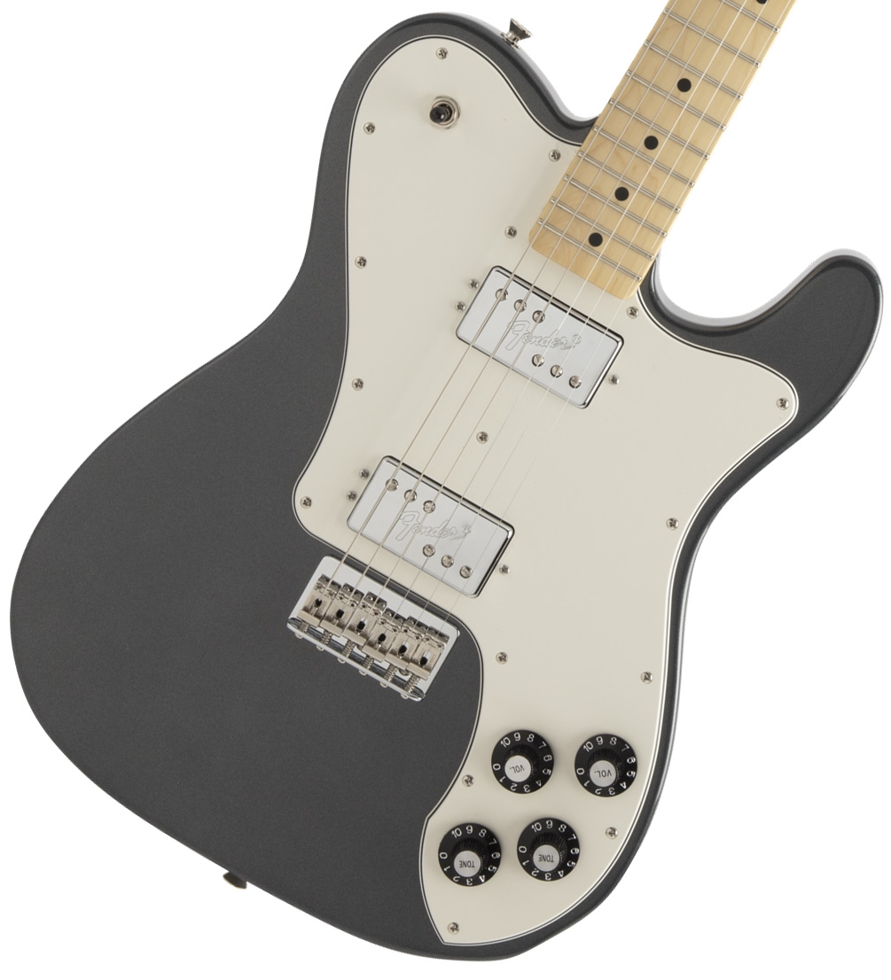 Fender / Made in Japan Hybrid Telecaster Deluxe Maple Fingerboard Charcoal Frost Metallic