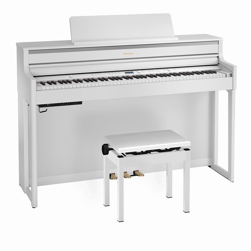 Roland ローランド / HP704 WHS ホワイト 電子ピアノ(HP704-WHS)【YRK】【代引き不可】【全国組立設置無料】【お手入れセットプレゼント:set78332】《レッスンバッグセットプレゼント:411138700》【PTNB】