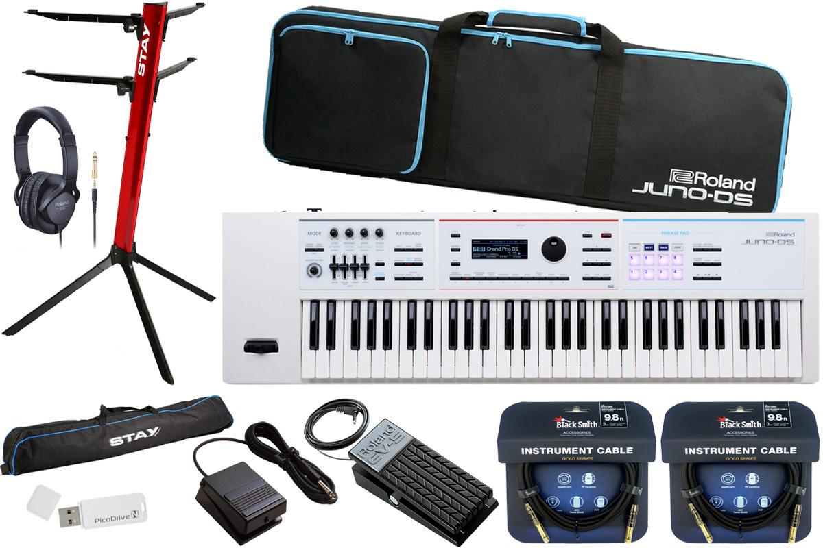 Roland ローランド / JUNO-DS61W【数量限定 軽量ライブセット!】シンセサイザー (JUNO-DS)【YRK】