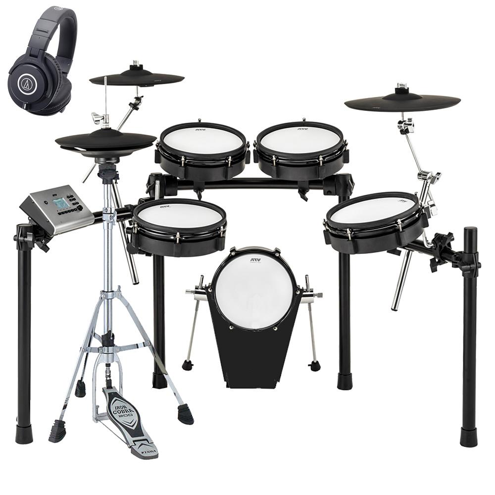 ATV / EXS-3 電子ドラム / ハイハットスタンドとヘッドホンM40xセット《予約注文/納期6月末頃予定》