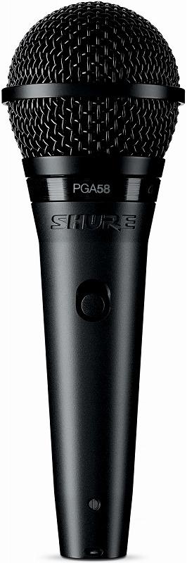 SHURE / PGA58-XLR カーディオイド・ダイナミック・ボーカルマイクロホン シュア PG ALTA【お取り寄せ商品】