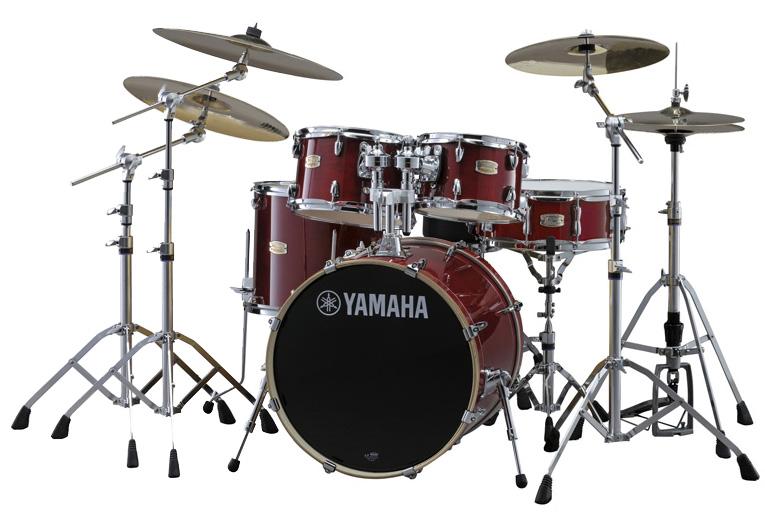 YAMAHA ドラムセット SBP0F5S18-CRクランベリーレッド ステージカスタム 20BD/スタンダードセット+ジルジャン・S・3シンバルセット【YRK】