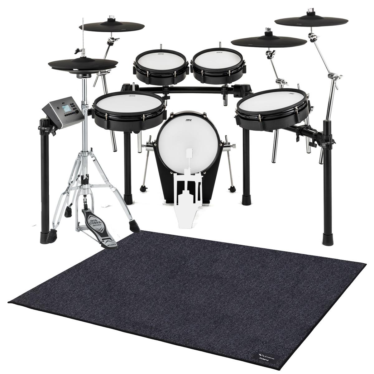 【在庫あります】ATV / EXS-5 電子ドラム ハイハットスタンドとドラムマットTDM-20セット / キックペダル別売【BLKFRD】