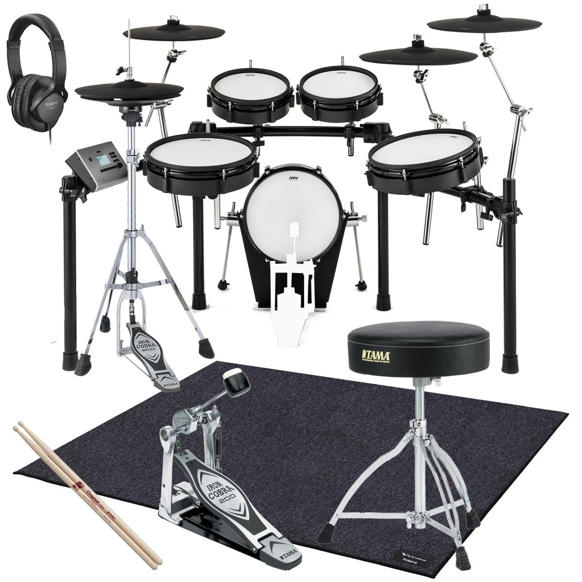 【在庫あります】ATV / EXS-5 電子ドラム TAMAスターターパックS/ドラムマットTDM-20セット
