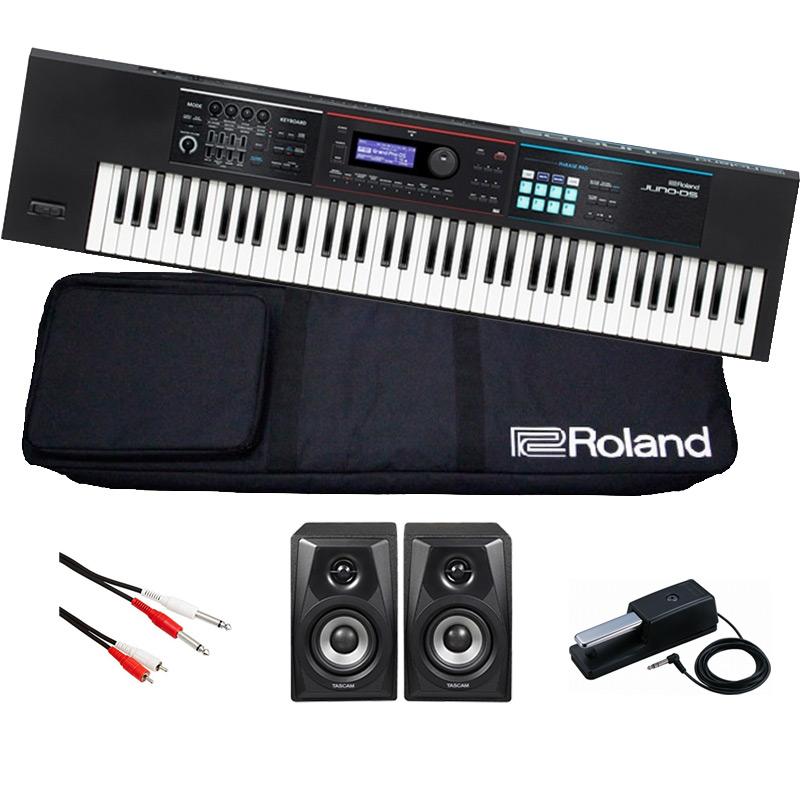 Roland ローランド / JUNO-DS76【超限定スピーカーセット!】76鍵盤シンセサイザー《背負えるケース付き》【YRK】